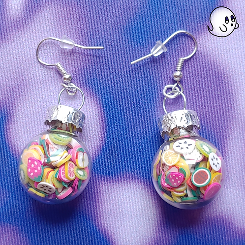 Fruit Glitter Ornament Dangle Earring