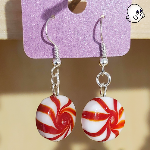 Peppermint Candy Dangle Earring