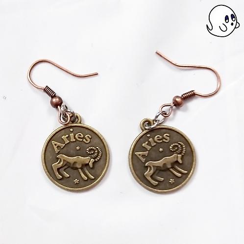 Aries Zodiac Dangle Earring