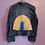 Thumbnail: Rainbow Crochet Denim Jacket - Women's Medium