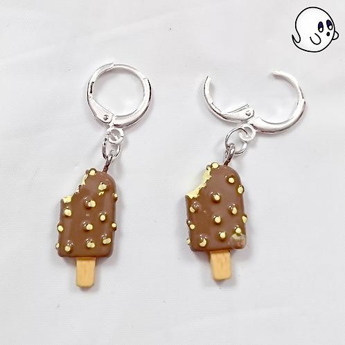 Chocolate Ice Cream Bar Dangle Earring