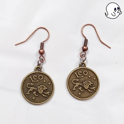 Leo Zodiac Dangle Earring