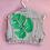 Thumbnail: Monstera Leaf Hand Painted Denim Cropped Vest - Women's Medium