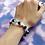 Thumbnail: Blue Cross Bead Stretch Bracelet