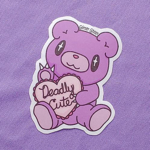 Deadly Cute 3 inch Sticker