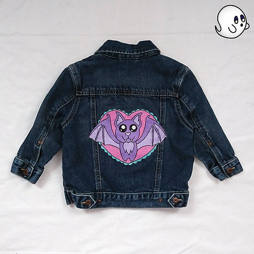 Bat Hand Painted Denim Jacket - Infant 18 Month