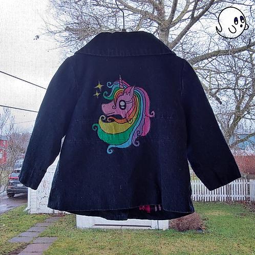 Unicorn Hand Painted Denim Jacket - Infant 18 to 24 Month