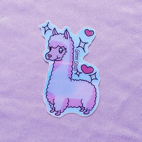Llama 3 inch Holographic Sticker