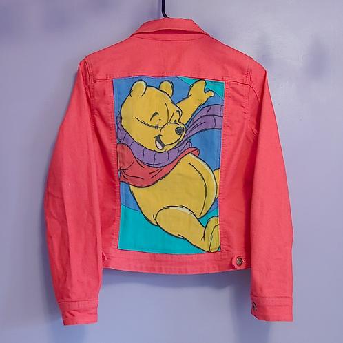 Winnie the Pooh Reworked Denim Jacket - Women's Medium