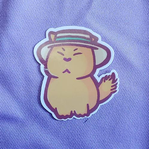 Grumpy Farm Cat 2 inch Sticker