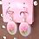 Thumbnail: Flower Oval Dangle Earring