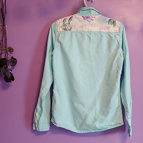 Squidward and Plankton Reworked Shirt - Women's X Small