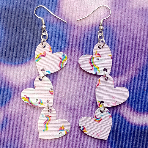 Unicorn Heart Dangle Earring