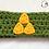Thumbnail: Triforce from the Legend of Zelda Green Crochet Ear Warmer