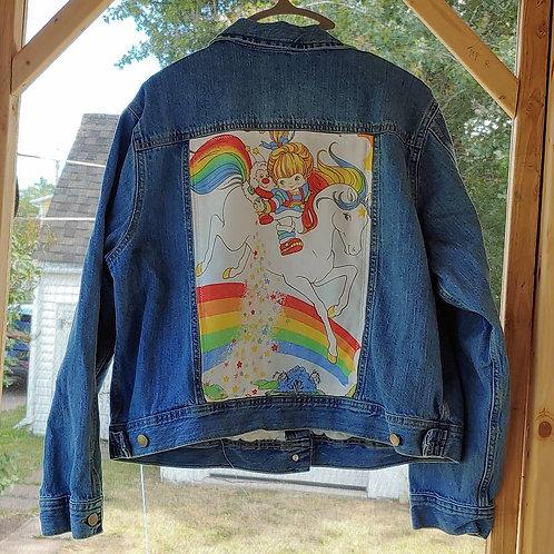 Rainbow Brite Reworked Denim Jacket
