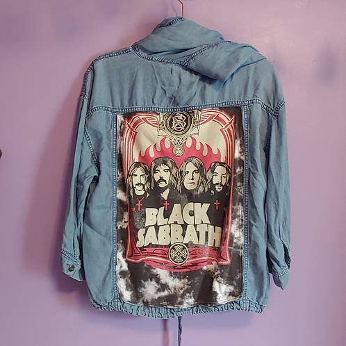Black Sabbath Reworked Denim Sweater - Women's Medium