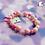 Thumbnail: Pink Crystal Drop Bead Stretch Bracelet