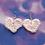 Thumbnail: Crochet Heart Dangle Earring