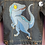 Thumbnail: Velociraptor Hand Painted Denim Jacket - Child Small (6-7)