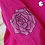 Thumbnail: Roses and Spider Web Hand Painted Jacket - Womens Small