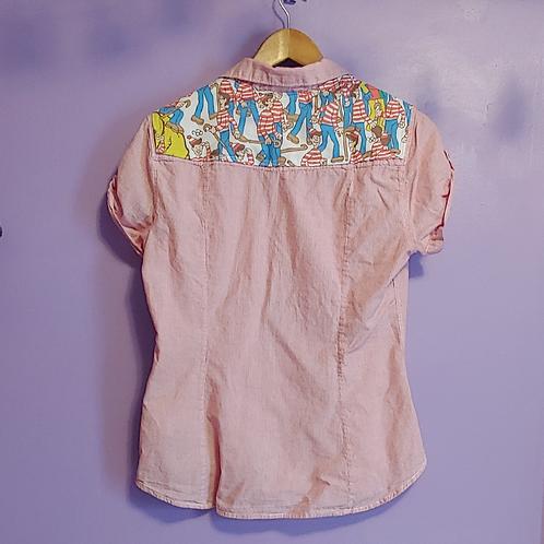 Where's Waldo Reworked Shirt - Women's Medium (10)