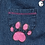 Thumbnail: Paw Prints Hand Painted Denim Pants - Infant 1 Month