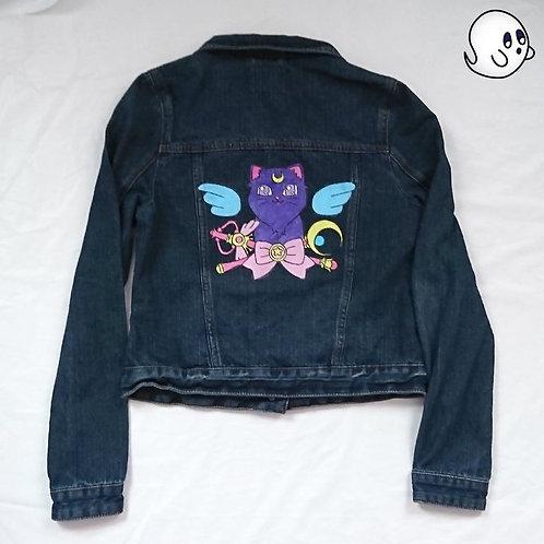 Luna Hand Painted Denim Jacket