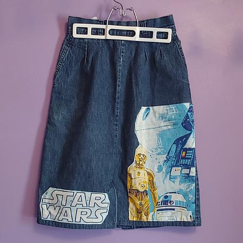 Star Wars Reworked Denim Skirt - Women's Small (5/6)