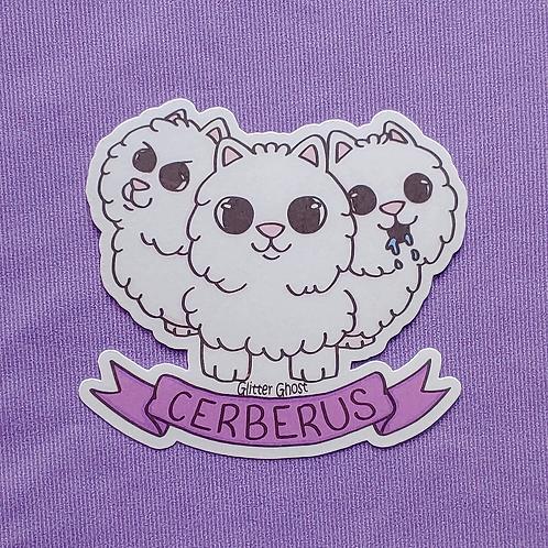 Pomeranian Cerberus 3 inch Sticker