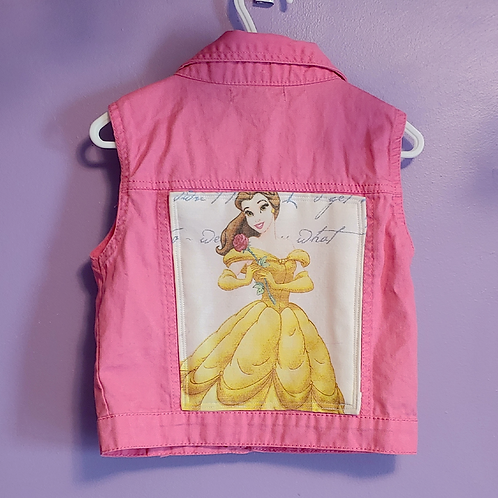 Belle Beauty and the Beast Reworked Denim Vest - Girls Small (6)