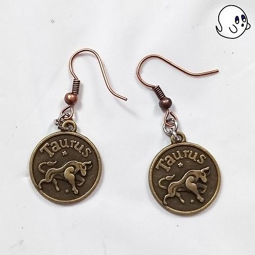 Taurus Zodiac Dangle Earring