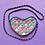 Thumbnail: Patch Quilt Hand Painted Denim Heart Bag
