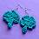 Thumbnail: Crochet Clover Dangle Earring