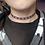Thumbnail: Hearts and Stripes Ribbon Choker