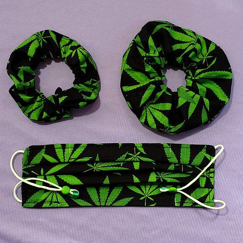 Weed Leaf Scrunchie