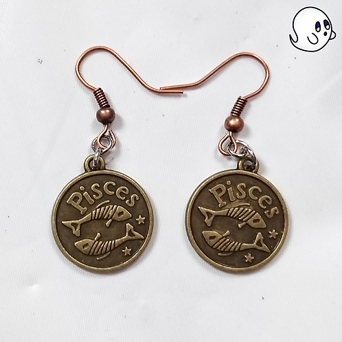Pisces Zodiac Dangle Earring