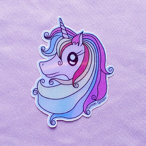 Unicorn 3 inch Holographic Sticker