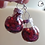 Thumbnail: Red Heart Glitter Ornament Dangle Earring