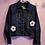 Thumbnail: Daisy Crochet Denim Jacket - Women's Medium