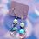 Thumbnail: Pink Glass Heart Dangle Earring