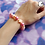 Thumbnail: Pink and Coral Starfish Bead Stretch Bracelet