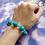 Thumbnail: Blue Transparent Bead Stretch Bracelet