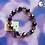 Thumbnail: Black Crystal Bead Stretch Bracelet