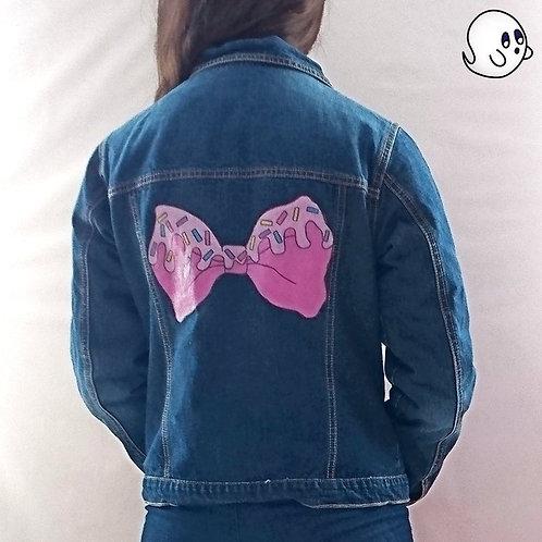 Icing Bow Hand Painted Denim Jacket - Child XXlarge (16)