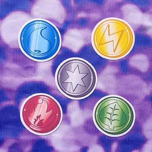 Pokémon Element Coins 2 inch Sticker