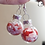 Thumbnail: Red and Pink Heart Glitter Ornament Dangle Earring