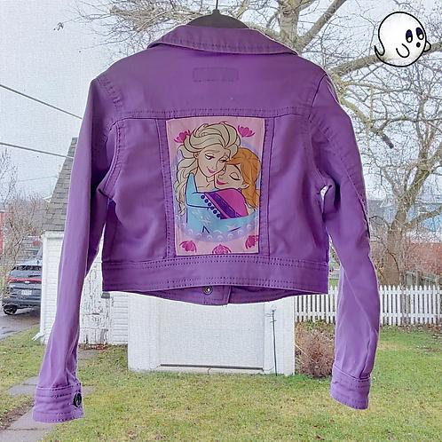Frozen Reworked Denim Jacket - Child Small (6/7)