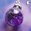 Thumbnail: Purple Glitter Ornament Dangle Earring