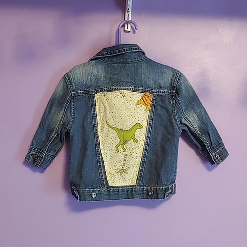 Dinosaur Reworked Denim Jacket -Infant 1 Year
