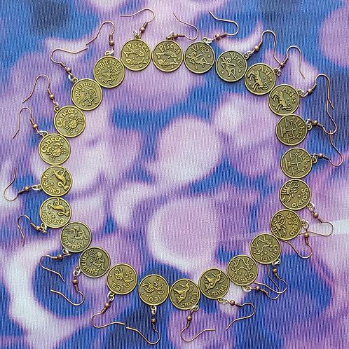 Zodiac Dangle Earring